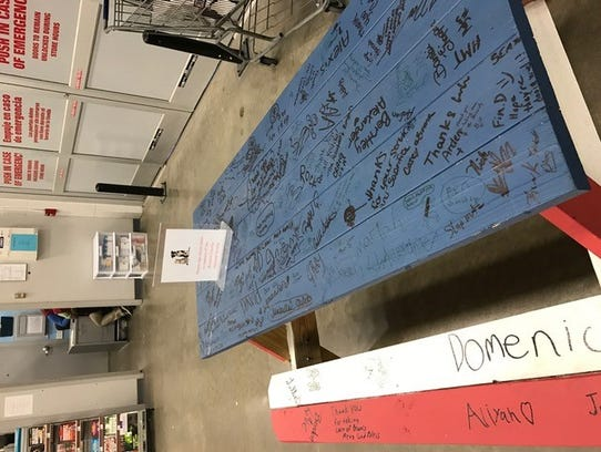 Lowe's donated a picnic table to the Broome County