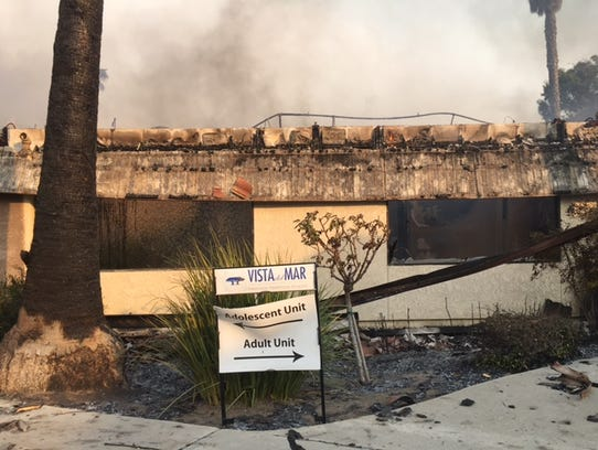 Fire gutted this adolescent care unit at Vista del Mar Hospital in Ventura.