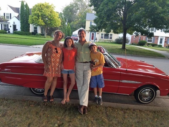 The Smith family. Lori, Brad, kids Milo,10, and Alma,11,