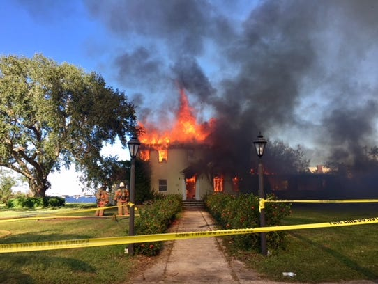 A home on Twin Palm Drive off McGregor Boulevard was