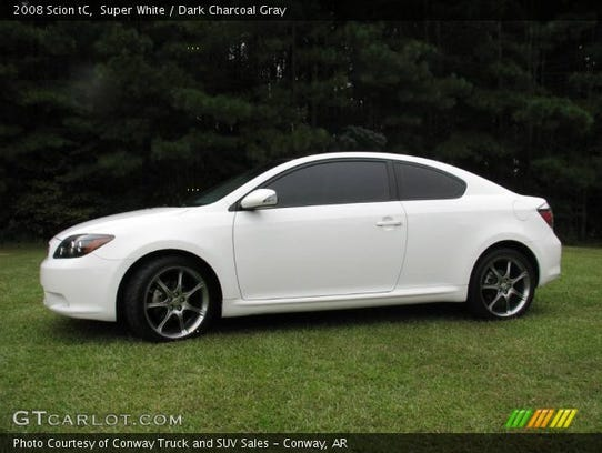 Police are looking for a white 2008 Scion TC bearing