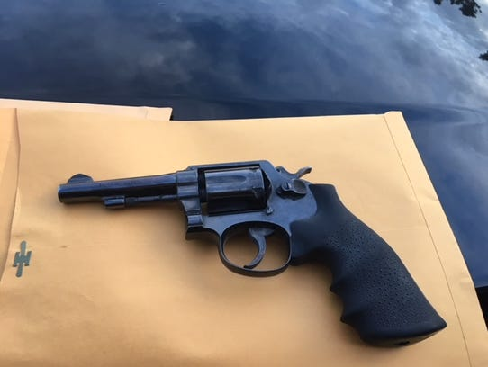 The loaded firearm recovered by Port Hueneme police