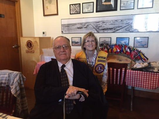 Abilene Founders Lions Club member Shara Eckard (right)