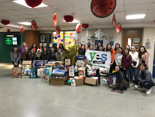 Students from Vestal High School's YES Leads Group