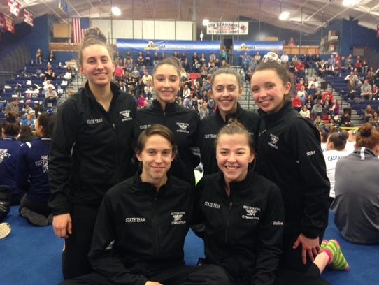 The 2018 Section V state Gymnastics Championships team