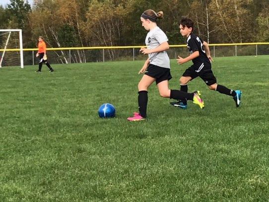 Trinity Mastronardi plays soccer.