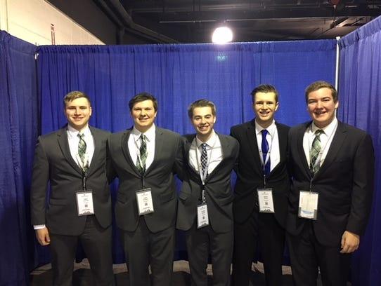 Sauk Rapids-Rice DECA members Talon Cummings, Logan