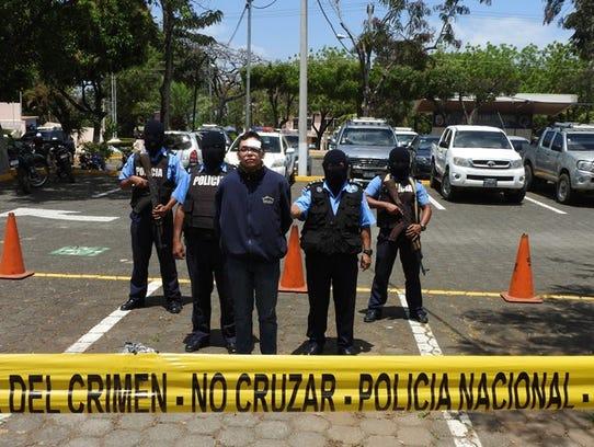 Nicaragua National Police with Orlando Tercero, following