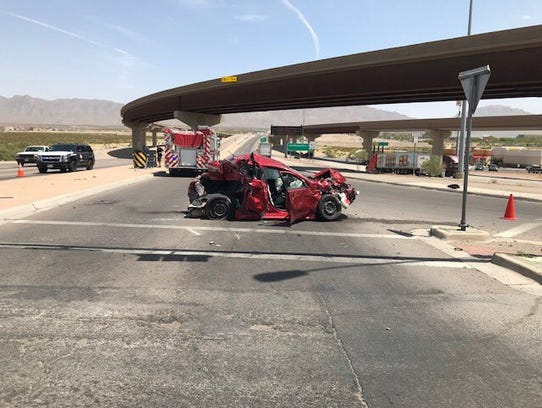This multivehicle crash at Interstate 10 and Trans