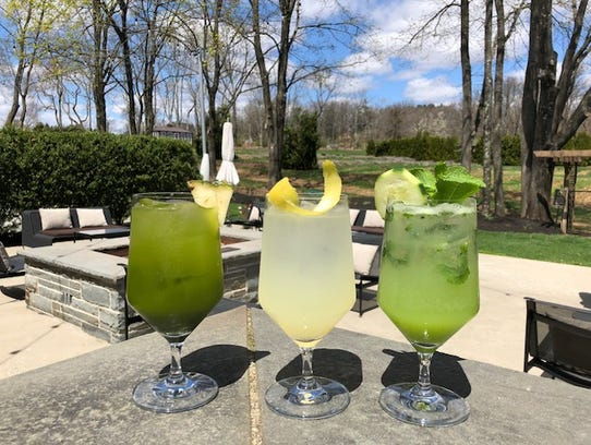 The three fresh-made mocktails currently on the menu