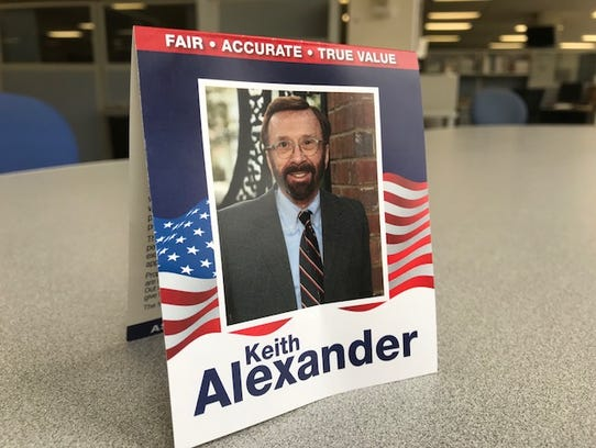 Political literature from Keith Alexander's campaign.
