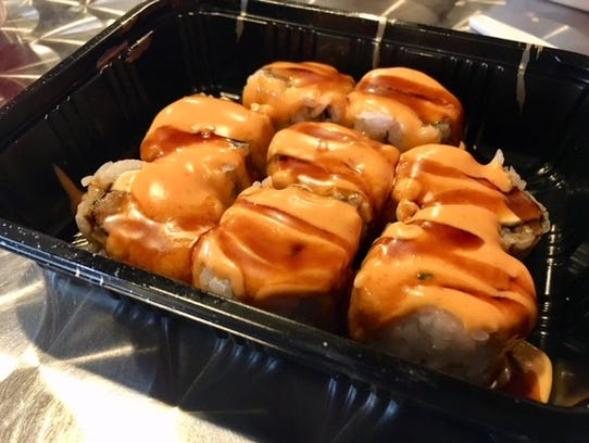 The beef roll at the Teriyaki House in Des Moines.