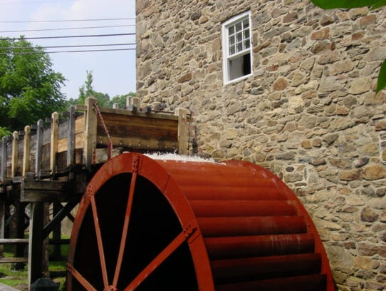 The waterwheel, located at the back of the Cooper Gristmill