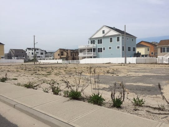 The former parking lot of Joey Harrison's Surf Club,