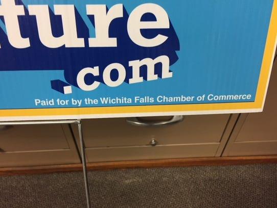 A disclosure statement is seen on a Wichita Falls Chamber