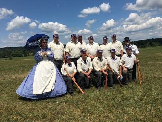 The Allegheny Ironsides, a vintage base ball club pictured