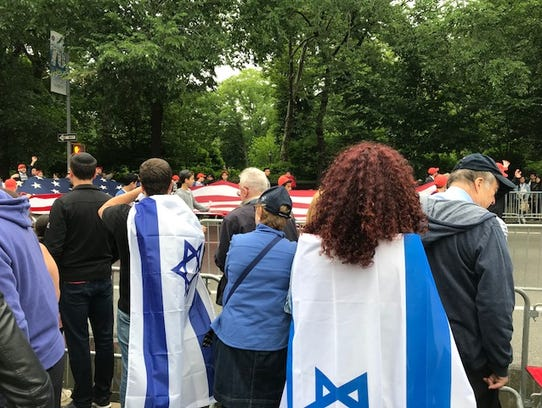 Spectators at the Celebrate Israel Parade who lined