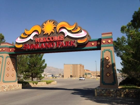 The entrance to Sunland Park Racetrack and Casino is