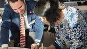 Jason Resendez with Civil Rights Leader Dolores Huerta