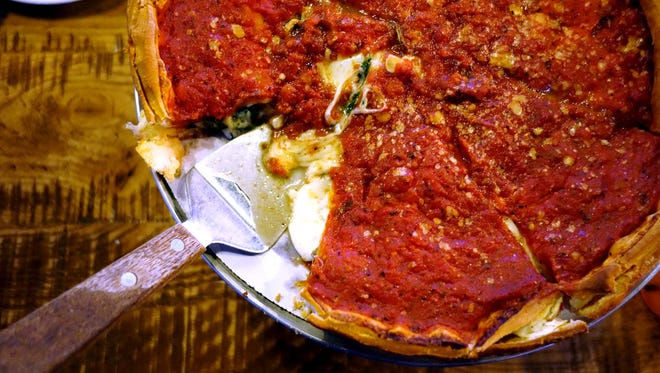 Stuffed deep-dish pizza at Giordano's