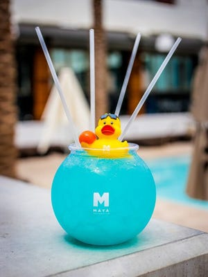 The Deep Blue Fishbowl from Maya Day + Nightclub in Scottsdale.