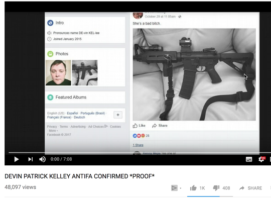 YouTube showing report claiming that Texas killer was