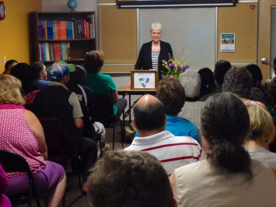Executive Director, Dolly Fleming welcomes everyone at the end-of-the-year Academic Day celebration.