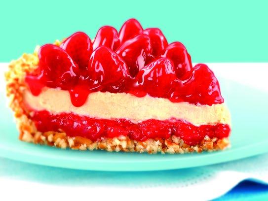 Strawberry Peanut Butter Pie