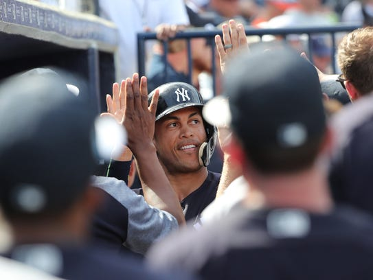 New York Yankees right fielder Giancarlo Stanton.