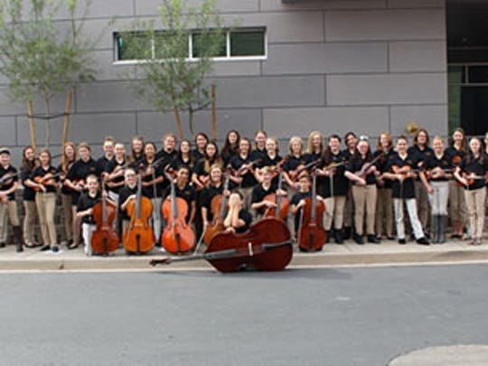 Cedar Middle School's Advanced Orchestra with Christina