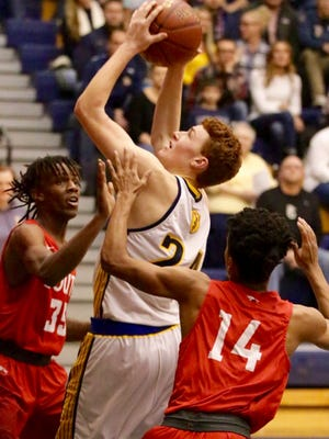 Sheboygan North's Brent Widder had a big game Saturday against Sheboygan South, scoring 31 points with nine rebounds and four assists to lead the area.
