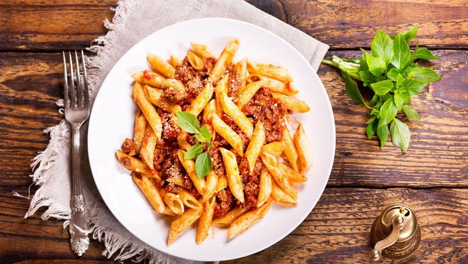 Serve this hearty sauce with a more robust pasta shape such as penne.