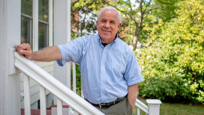 Frederic Reamer at his Pawtucket home. Reamer is a professor in the graduate program of the School of Social Work at Rhode Island College. He has lectured nationally and internationally on the subjects of professional ethics, professional malpractice and liability.