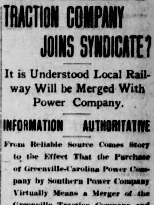 An article in The Greenville News in June 1910