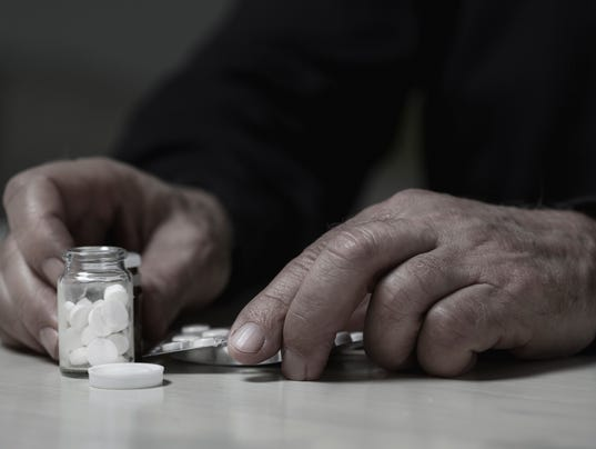 Man going to overdose drugs