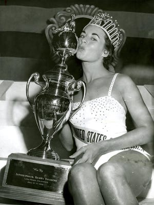 This is Carol Morris of Ottumwa, who was crowned Miss Universe in 1956.