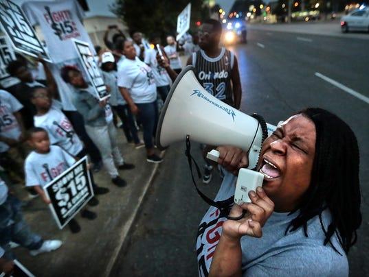 labor protest secondary