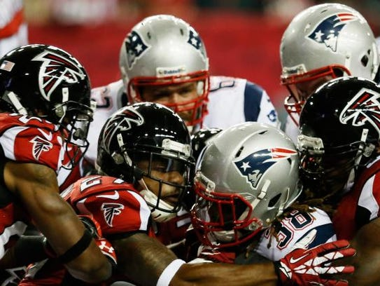 The New England Patriots and Atlanta Falcons will compete
