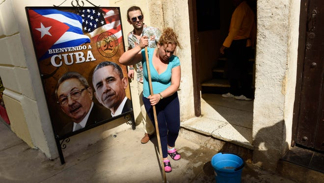 Havana prepares on Saturday, one day before the visit of  President Obama.