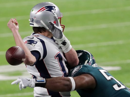 Super Bowl LII - Philadelphia Eagles v New England Patriots, Tom Brady fumble
