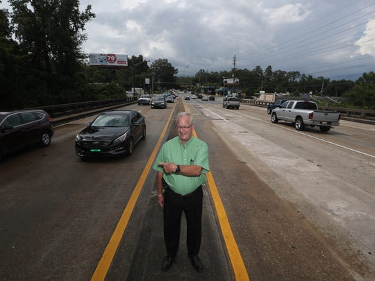 Gubernatorial candidate Bob Langford, who says he has seen every intersection of the state of Florida, stands along Magnolia Avenue in Tallahassee on Wednesday, July 18, 2018.