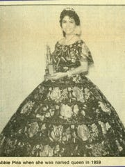 Abbie Piña was crowned Feria de las Flores queen in 1959. She was the first queen crowned by pageant sponsor League of United Latin American Citizens No. 1.