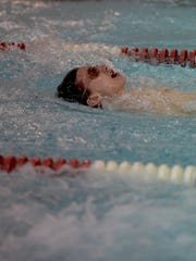 Richmond's Jonathan Childress swims the 200 yard medley