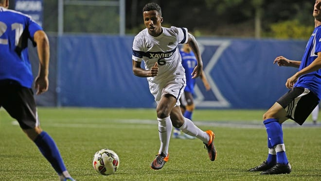 Jalen Brown's goal led Xavier to a 1-0 win over Notre Dame in Tuesday's match at South Bend. The Fighting Irish are the highest-ranked team Xavier has ever defeated.
