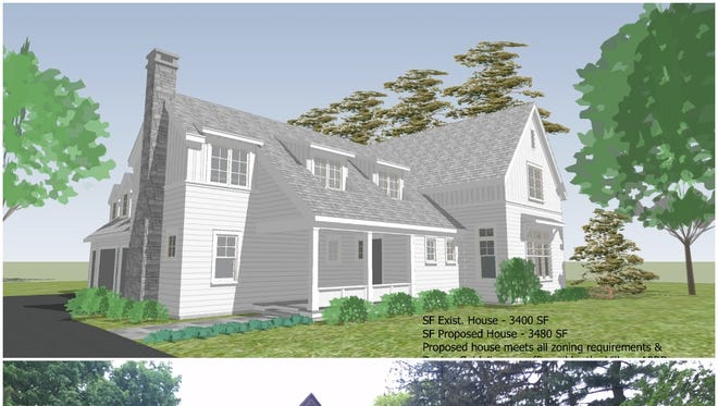 David and Tina Mattia own 44 Sutherland Street in Pittsford (below). They want to demolish it and build their dream home (above).