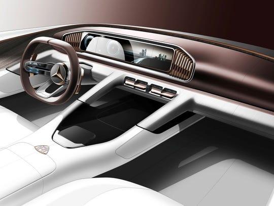 Mercedes-Benz A-class sedan with the MBUX infotainment