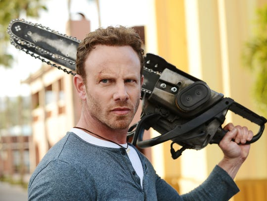 Ian Ziering and his chain saw are at it again and so