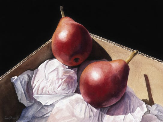 """Pair of Pears"" by Penny Thomas Simpson."