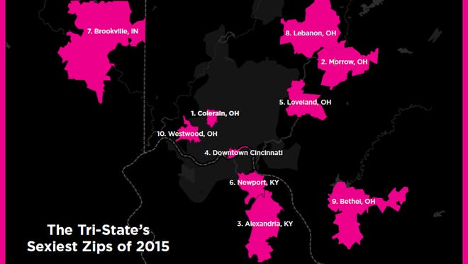 The Tri-State's sexiest zip codes of 2015.