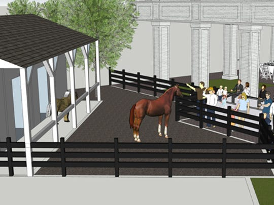 A Hubbuch & Co. rendering of the new barn at the Kentucky Derby Museum at Churchill Downs.